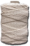 #36 POLISHED COTTON TWINE 1LB. TUBE
