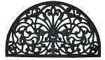 WROUGHT IRON RUBBER MAT - HALF ROUND
