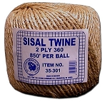 1 PLY 360 SISAL TWINE 5# BALL