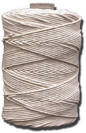 #4-1/2 POLISHED COTTON TWINE 2 LB. TUBE