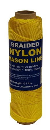 #1 BRAIDED NYLON MASON LINE 250' YELLOW