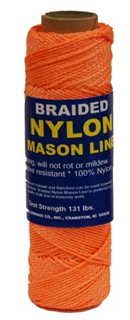 #1 BRAIDED NYLON MASON 500' ORANGE