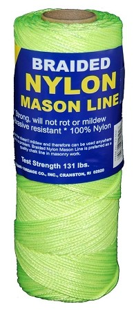 #1 BRAIDED NYLON MASON 250' FL YELLOW