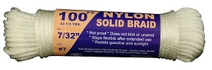 #7 SOLID BRAID NYLON 50' HANK