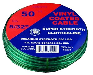#5 X 100' GREEN VINYL WITH WIRE CENTER