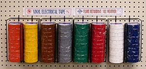 ELECTRICAL TAPE RACK (80 ROOLS)