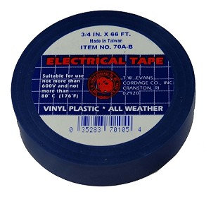 "3/4"" X 66' BLUE ELECTRIC TAPE"
