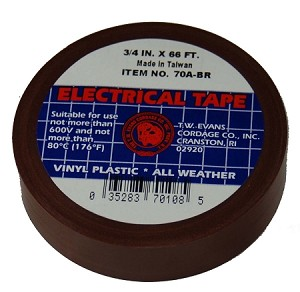"3/4"" X 66' BROWN ELECTRIC TAPE"