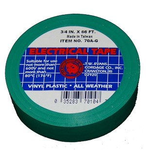 "3/4"" X 66' GREEN ELECTRIC TAPE"