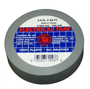 "3/4"" X 66' GREY ELECTRIC TAPE"