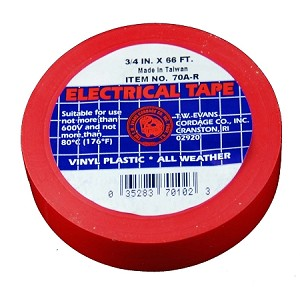 "3/4"" X 66' RED ELECTRIC TAPE"