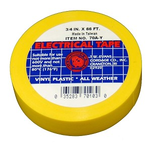 "3/4"" X 66' YELLOW ELECTRIC TAPE"