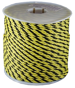 "3/8""-600' YELLOW & BLACK BUFFALO POLY"