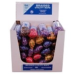 "30 PIECE 3/8"" X 50' BRAIDED UTILITY ROPE DISPLAY"