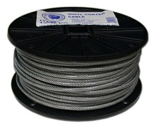 "3/32-TO 3/16""-250' COATED CABLE 7X7"