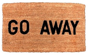 "16"" X 27"" GO AWAY COCOA MAT"