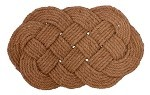 "16"" X 27"" LOVERS KNOT COIR MAT"