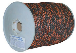 "3/4""-600' BLACK & ORANGE CALIFORNIA TRUCK ROPE"