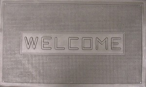"18"" X 30"" RUBBER WELCOME MAT"