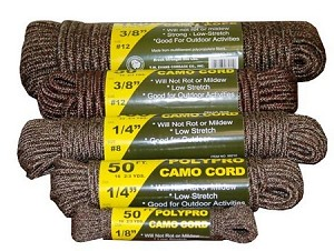 "1/4"" X 100' BRAIDED CAMO ROPE"