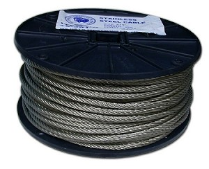 "3/32""-250' STAILNESS STEEL CABLE 7X19"