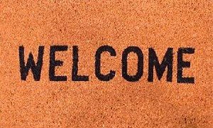 "16"" X 27"" WELCOME COCOA MAT"