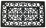 WROUGHT IRON RUBBER MAT - SQUARE